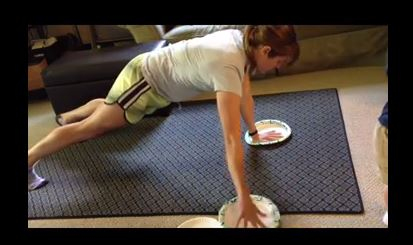 Paper Plate Workout #2