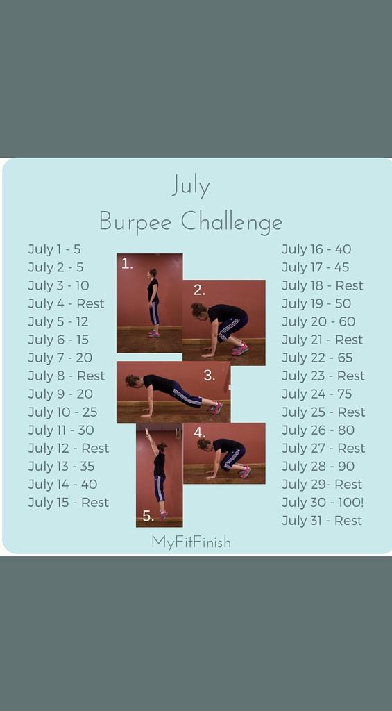 July Burpee Challenge