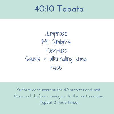 Monthly Workouts – April