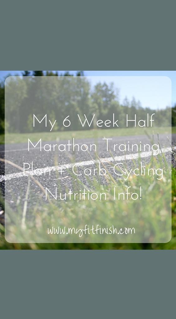 My 6 Week Half Marathon Training Plan + Carb Cycling Nutrition Info!