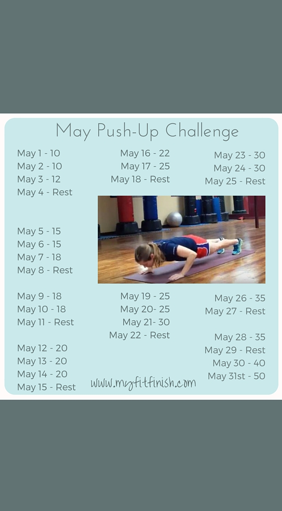 May Push-Up Challenge with Video Demonstrations!